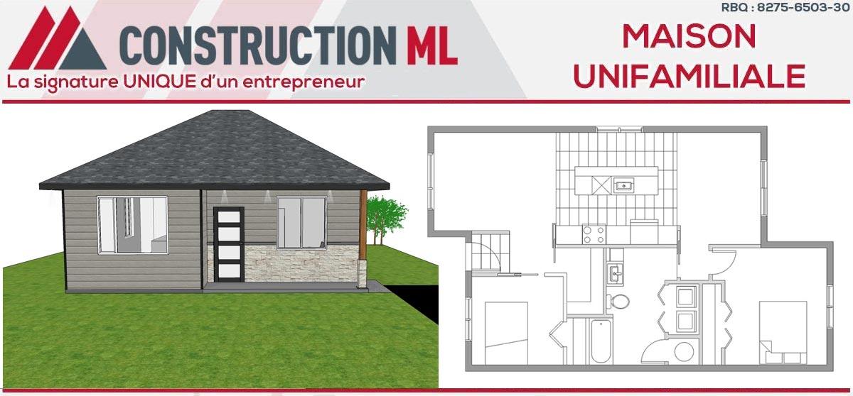 La petite maison construction ml for Construction petite maison